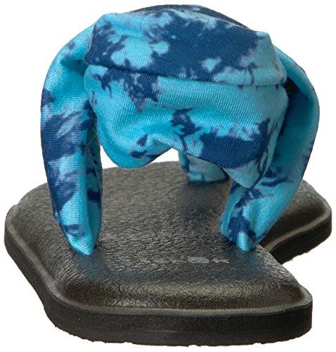 Vintage 2 Flip Sanuk Yoga Sling flop 10 M Women's Tye Us Print Navy Dye 4wwZUqX