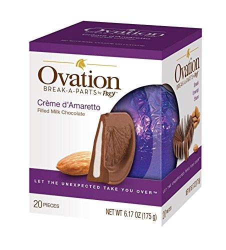 Ovation Chocolate Break-A-Parts by Frey- 6.17 oz. (2-Pack) (Ovation Milk Chocolate Creme d'Amaretto) ()