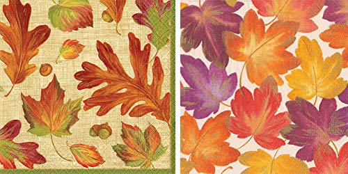 (Entertaining with Caspari Paper Cocktail Napkins, Pack of 40 … (Falling Leaves))