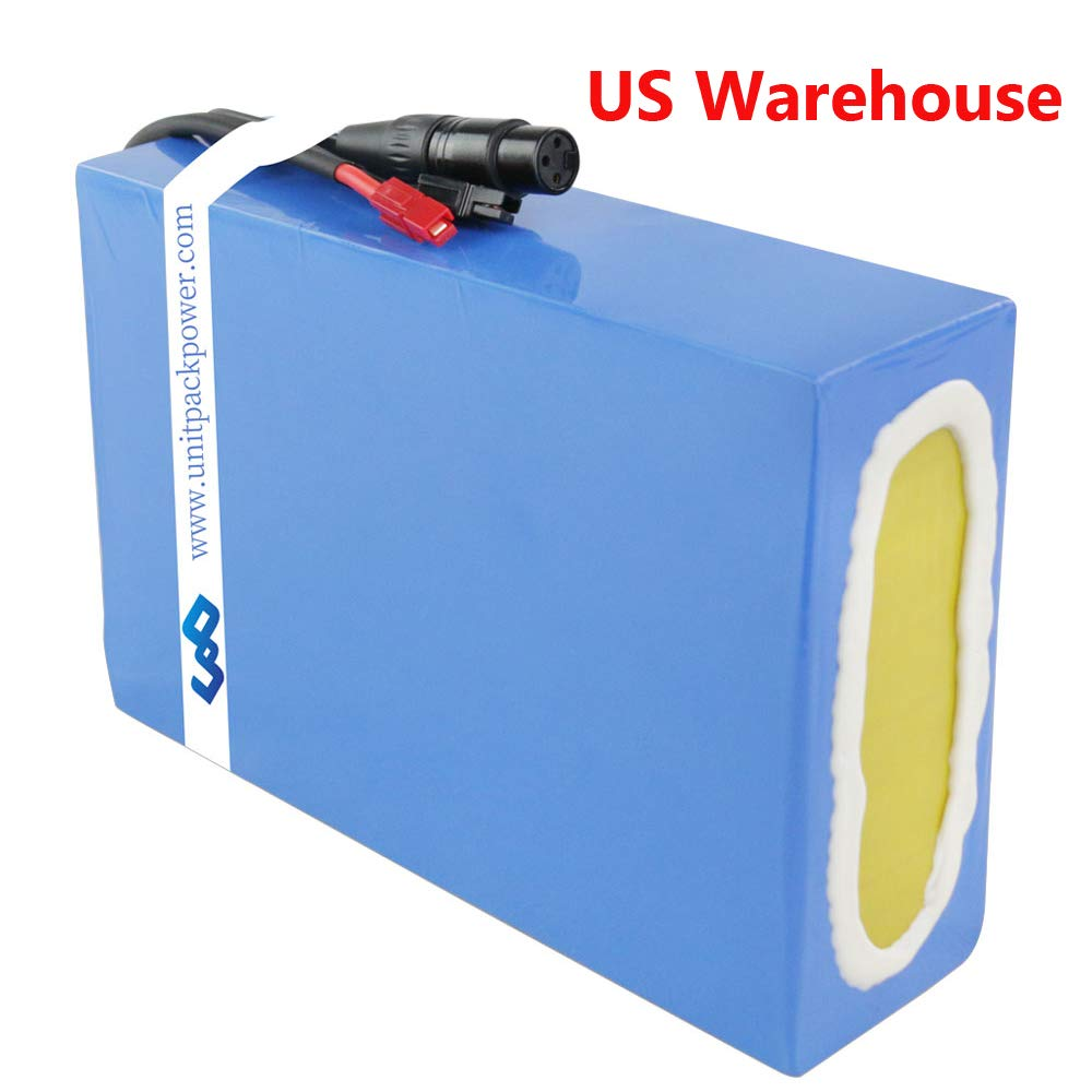 Ebike Battery 48V 20AH Waterproof PVC Lithium Battery Pack with Charger and 30A BMS Protection for 1000W 750W 500W Motor US Warehouse