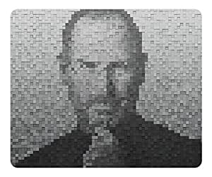 Customized Rectangle Rubber Mousepad Steve Job High Quality Water Resistent Oblong Soft Gaming Mouse Pads