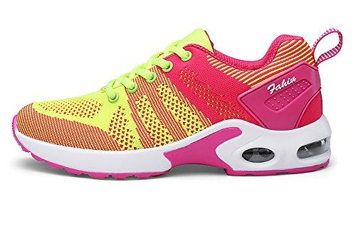 No.66 Town Dames Luchtkussen Comfortabele Sneakers Lichtgewicht Vliegende Loopschoenen Us5.5-8.5 Geel