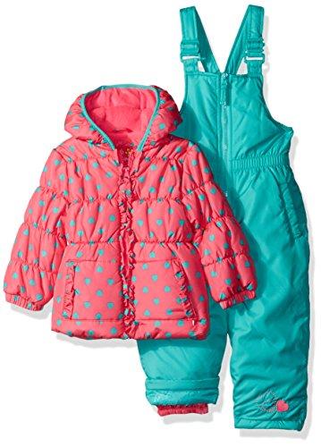 Pink Platinum Baby Girls Sweetheart Print Snowsuit, Knock Out Pink, 18M