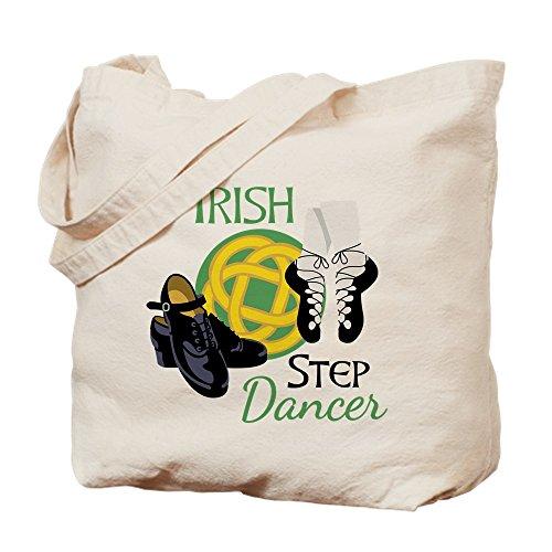 - CafePress IRISH STEP Dancer Natural Canvas Tote Bag, Cloth Shopping Bag