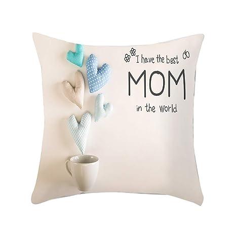 Mejor Mamá Niñera granparent Regalo Personalizado Cojín Lino Cumpleaños Día De Las Madres