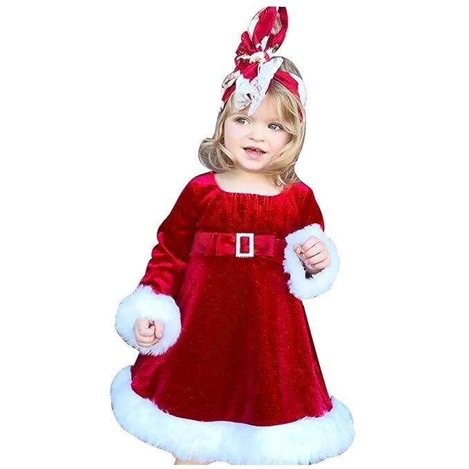 Amazon.com: RQWEIN - Vestido de Navidad para niña, de ...