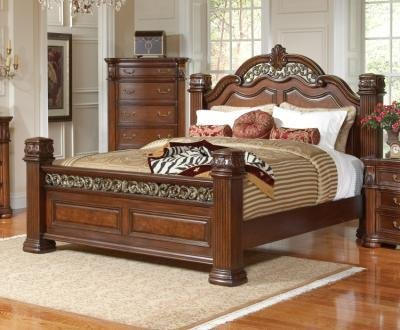 Coaster Headboard Box 1 Of 3-Mahogany (Finish Set Poster Bed Wood)
