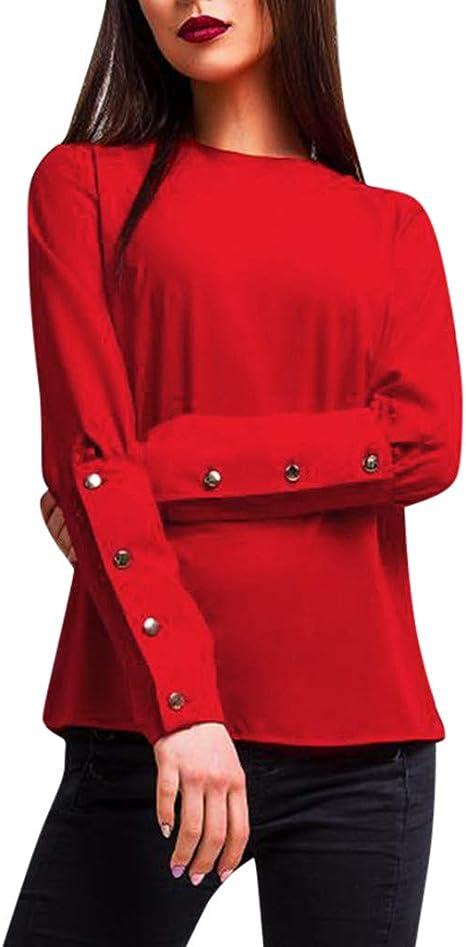Rcool Camiseta Camisetas Tops y Blusas Camisetas Mujer Manga Corta Camisetas Deporte Mujer Camisetas Mujer,Camisa de Manga Larga con Cuello en O con Cuello Redondo y Tops Blusa: Amazon.es: Ropa y accesorios