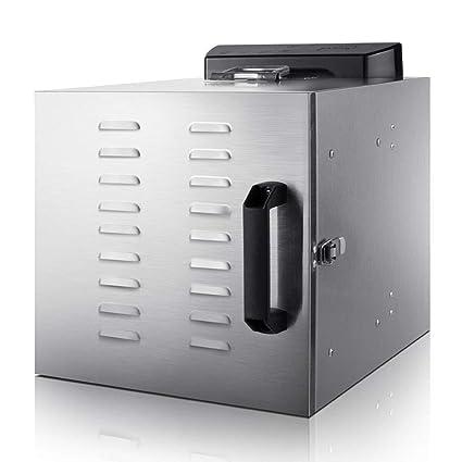 ZHAOHGJ Deshidratador de Alimentos, 6 Capas de Gran Capacidad 304 Material de Acero Inoxidable Control
