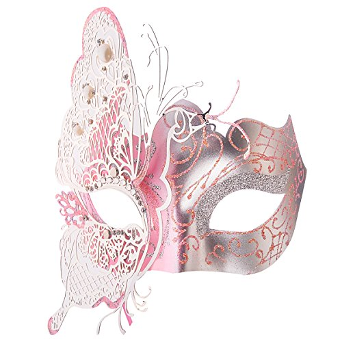 [Venetian Mask, Coxeer Princess Dance Mask Metal Butterfly Mask for Halloween Masquerade Mask] (Mascarade Mask)