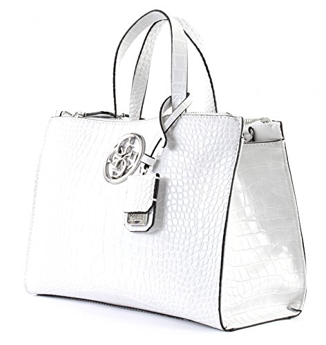 GUESS G Lux Status Satchel White