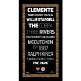 MLB Pittsburgh Pirates Subway Sign Wall Art with Authentic Dirt from PNC Bank Stadium, 9.5x19-Inch