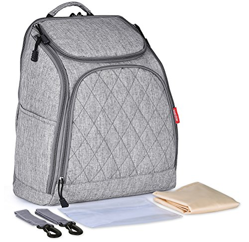 Goldwheat Diaper Bag Backpack Large Multifunction Travel Back Pack Maternity Baby Nappy Changing Bags Large Capacity Waterproof and Stylish