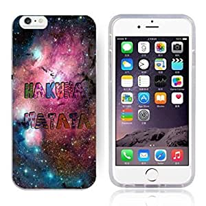 "Africa Ancient Proverb HAKUNA MATATA Color Accelerating Universe Star Design Pattern HD Durable Hard Plastic Case Cover for iPhone 6 (4.7"")"