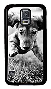 Running Dog Black Hard Case Cover Skin For Samsung Galaxy S5 I9600