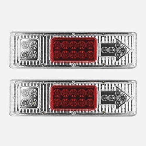 Reverse STOP impermeabile Frecce Lampada camion Confezione da 2 19 LED coda rimorchio 12 V Caravan auto