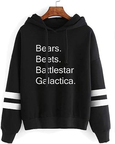 The Office Humor Bears Beets Battlestar Unisex Graphic Hoodie Sweatshirt