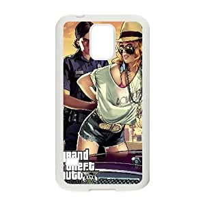 Grand Theft Auto V Game Samsung Galaxy S5 Cell Phone Case White Customized Toy pxf005_9677695