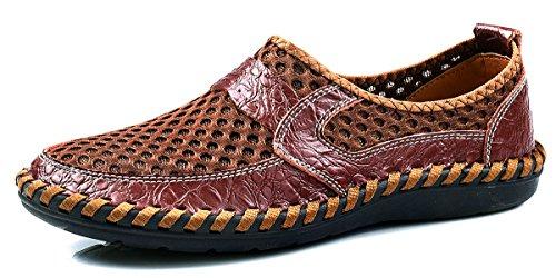 Shinysky Männer Slip-On Water Schuhe Freizeitschuhe Breathable Outdoor Mesh Wanderschuhe Braun