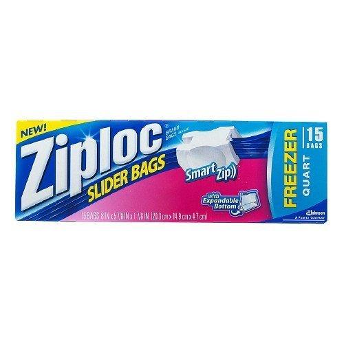 2 x Ziploc Slider bolsas de congelador, Quart 15 ea: Amazon ...