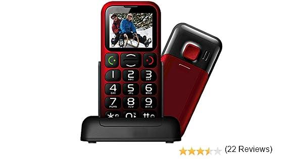 Mobiho-Essentiel le Classic Sympa Teléfono inalámbrico, liberado, fácil uso, con teclas grandes, botón de llamada de emergencia SOS, cifras de gran tamaño en pantalla, marcación rápida del 2 al 9, volumen hasta