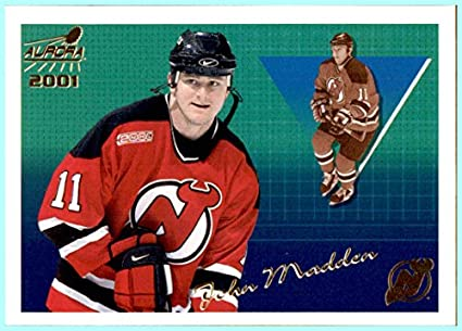 official photos cd216 f196c 2000-01 Pacific Aurora #84 John Madden NEW JERSEY DEVILS at ...