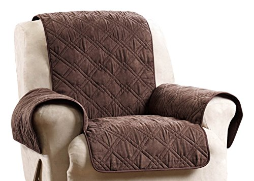Sure Fit SF44835 Deluxe Non Skid Waterproof Pet Recliner Furniture Cover - Chocolate (Furniture Pet Cover)
