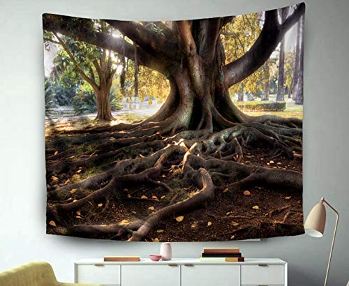 - Asdecmoly Tapestry Printing Wall Hanging Tapestries for Living Room and Bedroom 60 L x50 W Inches Tree Large Trunk Big Roots Above The Ground Art Printing Inhouse