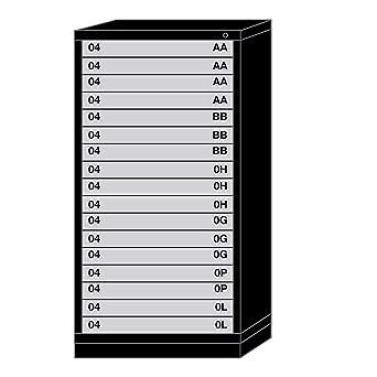 Amazon.com: Lyon - Cajonera modular con 17 cajones con 591 ...