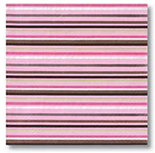 Design Design Pink Brown White Stripe Luncheon Napkins