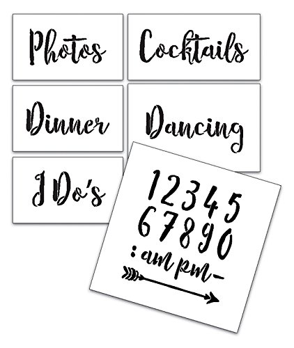 Wedding Stencil Words - Fun Stuff - Rustic Script 6pc Jumbo Set - STCL1593_4 by StudioR12 by Studio R 12