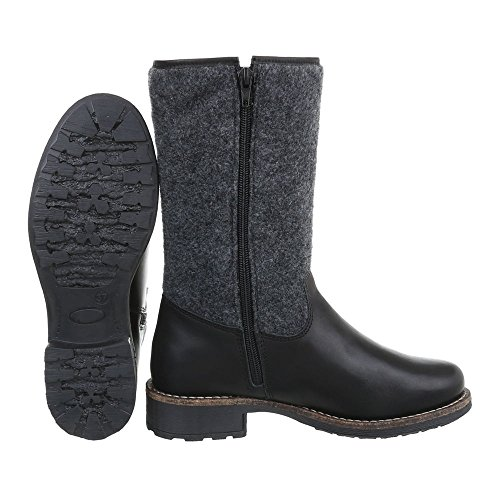 Stiefel Damenschuhe Ital Blockabsatz Stiefel Klassische Reißverschluss Blockabsatz Klassischer Design Stiefel TnwZtzq