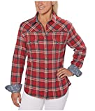 Jachs Girlfriend Ladies' Flannel Shirt (S, RED)
