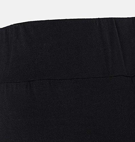 Tempo Pantaloni marca Fit Campana Waist Pantaloni Pantalone Elegante High Estivi Libero di Slim Pantaloni A Mode Pantaloni Larghi Colpo Lunga Palazzo Pantaloni Donna Fashion Accogliente Cucitura Nero nwRPqTgx86