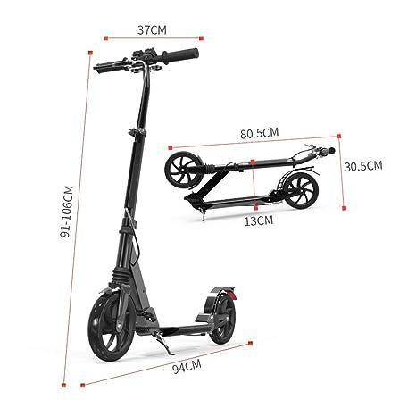 IG Scooter plegable para adultos con freno de mano, altura ...