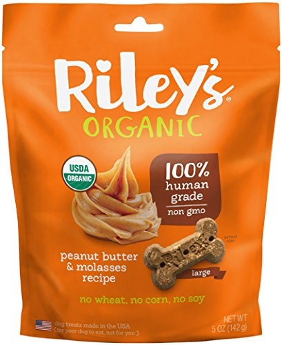 Riley's Organics Peanut Butter and Molasses Bone, Large, 5 Oz. Review