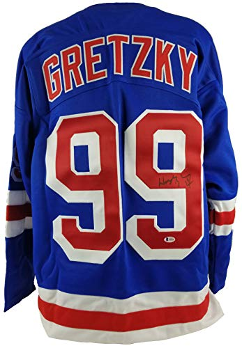 Rangers Wayne Gretzky Authentic Signed Blue jersey BAS #A05030