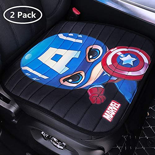 DPIST Captain America Car Seat Covers Protector 2pcs,Universal Fit,Used Four Seasons