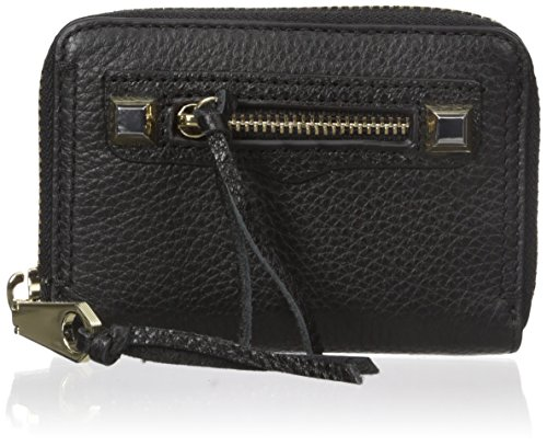 Rebecca Minkoff Mini Regan Zip Wallet, Black, One Size