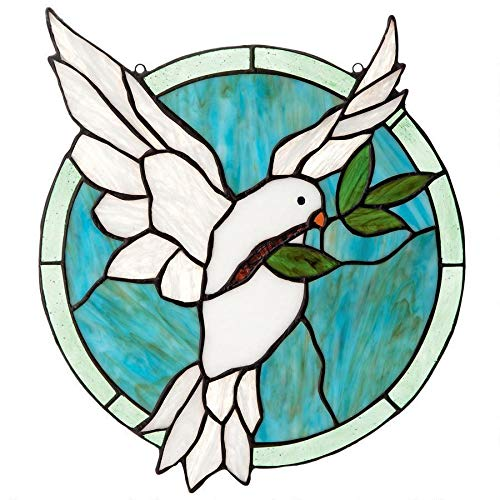 (Design Toscano Dove of Peace Tiffany-Style Stained Glass)