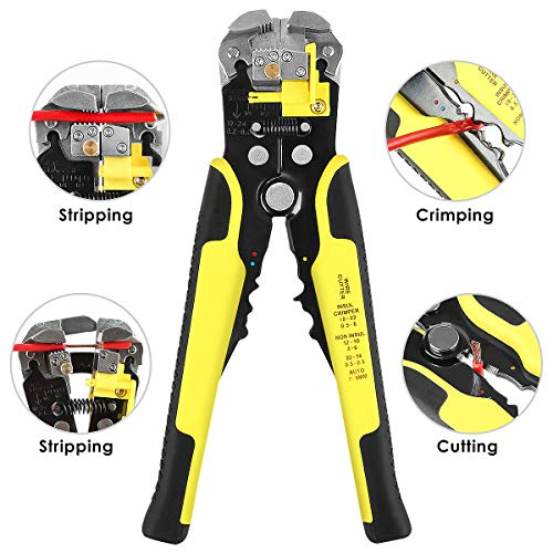 Wire Cutter Wyctin Self Adjusting Automatic Cable Wire Cutter Crimper Cutting Pliers Tool For Industry 10 24 Awg