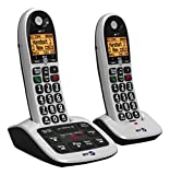 BT 4600 Big Button Advanced Call Blocker Cordless Home Phone with Answer Machine (Twin Handset Pack)