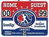 ScoreSign Little League Baseball Portable Scoreboard