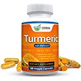 Orisha Naturals Turmeric Curcumin Supplement 600mg with Bioperine, Natural Turmeric Root Powder, Standardized and Enriched with 95% Curcuminoids, Joint Support, Anti-inflammatory, Antioxidant