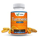 Orisha Naturals Turmeric Curcumin Supplement 600mg with Bioperine, Natural Turmeric Root Powder, Standardized and Enriched with 95% Curcuminoids, Joint Support, Anti-inflammatory, Antioxidant Review