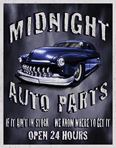 (OVCC Midnight Auto Parts Metal Tin Sign TIN Sign 7.8X11.8 INCH)