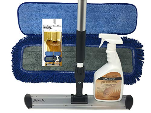 Mannington Ultra Clean Floor Mop Cleaning Kit - Complete Hardwood & Laminate Flooring Cleaning System - 18