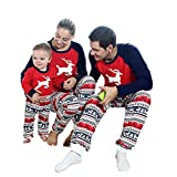 Daxin Christmas Family Pajamas Set Kids Mom Dad Deer Matching Outfits Clothes