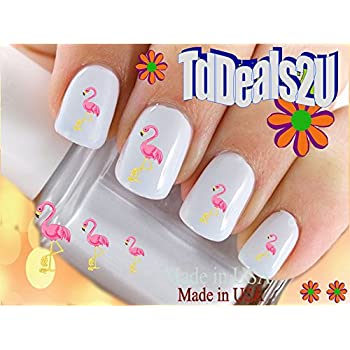 Amazon.com: Flamingo Water Slide Nail Art Decals - Nail