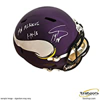 "Stefon Diggs Signed Minnesota Vikings Replica Full Sized SPEED Helmet with ""MN Miracle 1-14-18"""